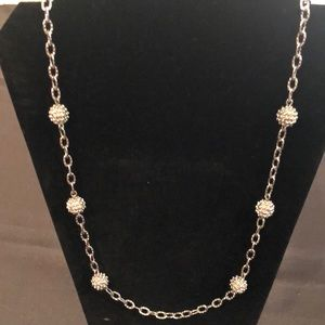 "Talbots Popcorn Layering Necklace - 33"" long"